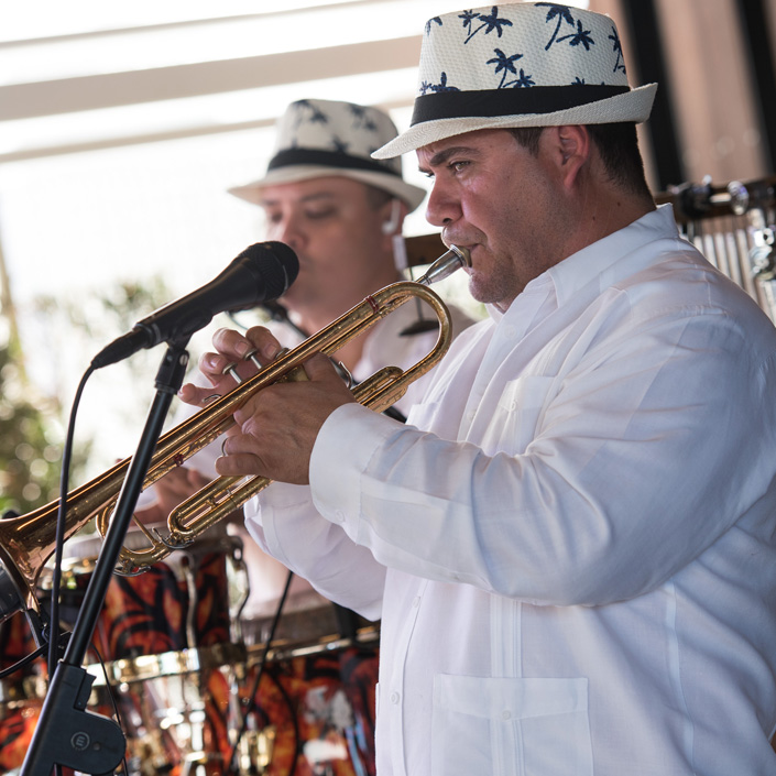 Two members of the Cuban Latin Band playing traditional Cuban Music