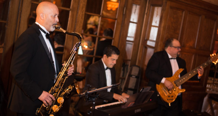 A Jazz Band entertains during a classy corporate event