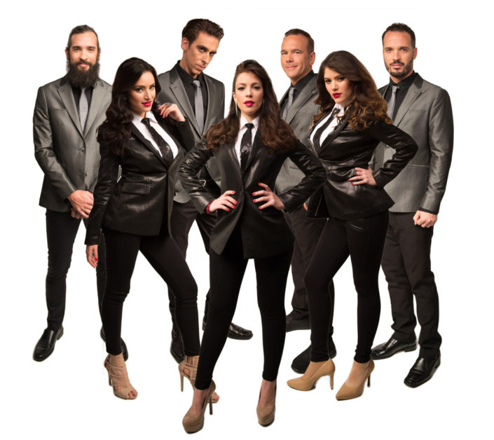 Promo shot of Dream On, a Latin music cover band