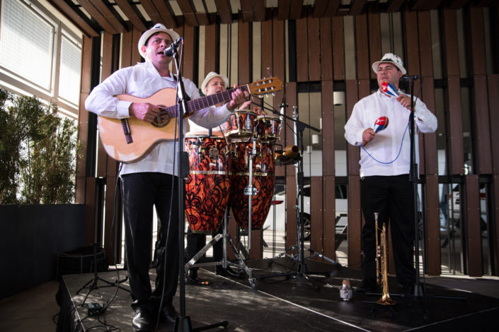 The Cuban Latin Band while performing at an event