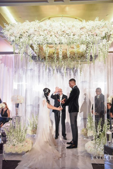 Jeff Green and Stephanie exchange vows