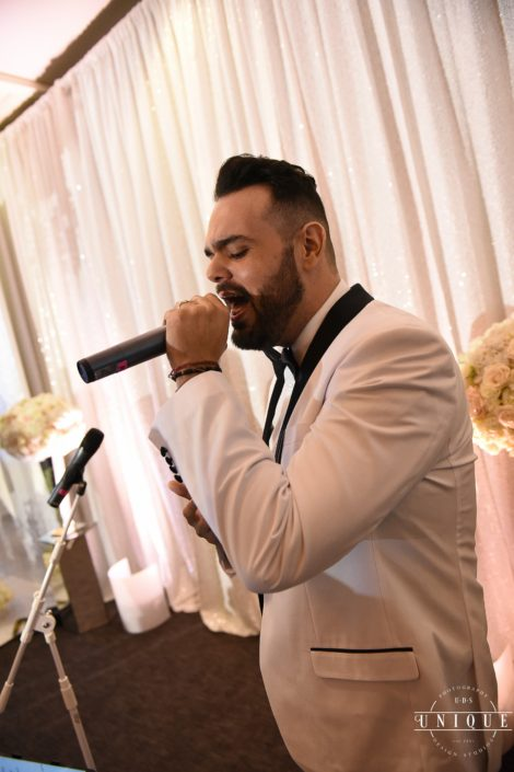 Male ceremony musician singer performing at Jeff Green's wedding